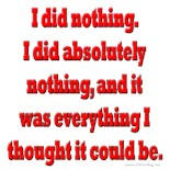 I Did Nothing