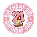 21st birthday girl Tanks/Sleeveless