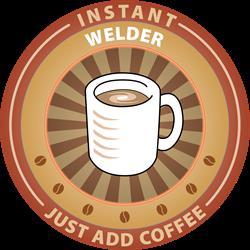 Instant Welder Oval Decal
