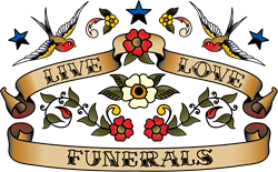 Live Love Funerals Oval Decal Gifts