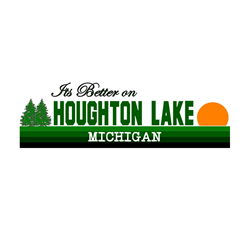 Its Better in Houghton Lake, Oval Decal
