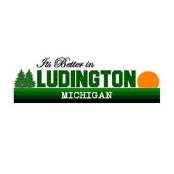 Its Better in Ludington, Mich Oval Decal
