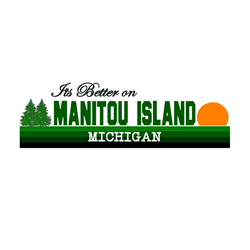 Its Better on Manitou Island, Oval Decal