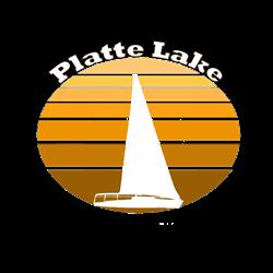 Platte Lake, Michigan Oval Decal