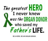 I Wear Green Ribbon My Dad Father Donor Saved