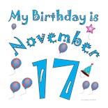 November 17Th Birthday
