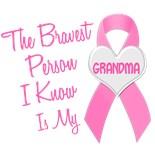 I Wear Pink Ribbon My Grandma Grandmother