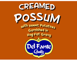 Creamed Possum label  Gifts