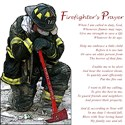 Firefighters prayer Oval Ornaments