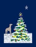 Greyhound Christmas Star