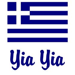 Yia Yia with Greek Flag Coffee Mug