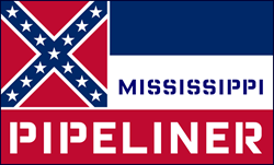 Mississippi Pipeliner Rectangle Decal