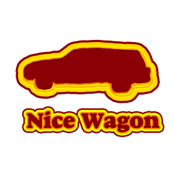 Nice Wagon Rectangle Decal