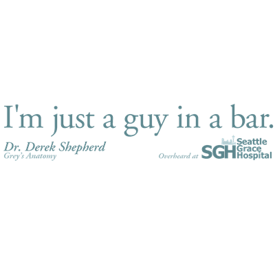 Guy in a Bar - Grey's Anatomy Quote