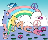 Rainbow Dove Peace