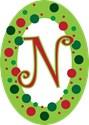 Monogram Oval Ornaments