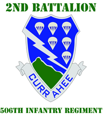 DUI - 2nd Bn - 506th Infantry Regt with Text T-Shirt