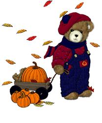 Autumn Teddy Bear Ash Grey T-Shirt