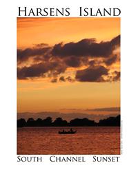 Harsens Island Sunset Decal