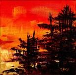 Autumn Sunset Maine
