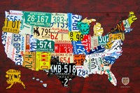 License Plate Map Of USA Puzzle By Licenseplateartandmaps - Us map license plate puzzle
