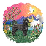 Portuguese Water Dog Art