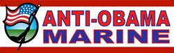 ANTI-OBAMA MARINE Bumper Sticker