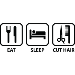 Eat Sleep Cut Hair Decal Gifts