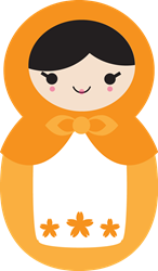 Matryoshka Doll - Orange   Gifts