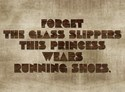Princess running shoes Oval
