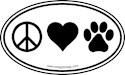 Animals Oval Car Magnets