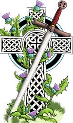 Celtic Cross Mini Flask