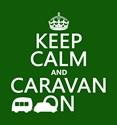 Keep calm and caravan on Trucker Hats