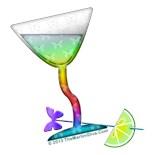 Rainbow Martini