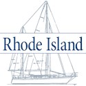 Rhode island Oval Car Magnets