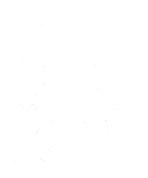 White Bigfoot Silhouette  Gifts