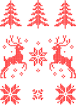 Moose Christmas Pattern