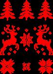 Moose Christmas Pattern