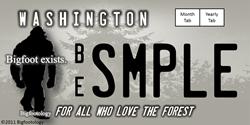Bigfootology: Bigfoot Reseach License Plate Sticke Gifts