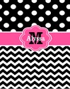 Pink black dots personalized iPad 2 Sleeves