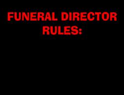Funeral Director Rules Coffee Mugs