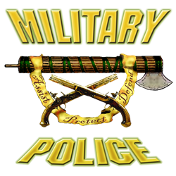Military Police Fascia W Crossed Pistols Decal