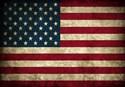 Blue line american flag Mens Wallet