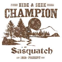 Hide & Seek Champion Sasquatch  Gifts