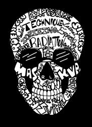 Radiology Terms  Skull Stainless Steel Water Bottle