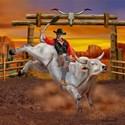 Bull riding iPad Cases & Sleeves