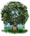 Guitar tree Organic Women's Fitted T-Shirt (dark)