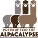 Alpacalypse Organic Women's Fitted T-Shirt (dark)