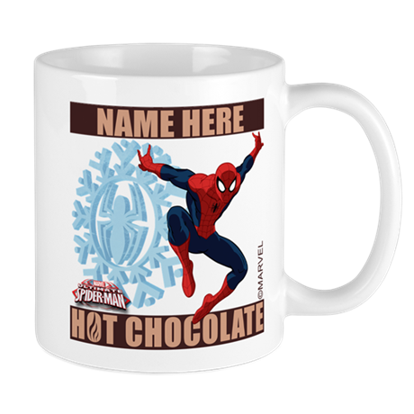 Personalized holiday spider man mugs by theavengers for Unique christmas mugs