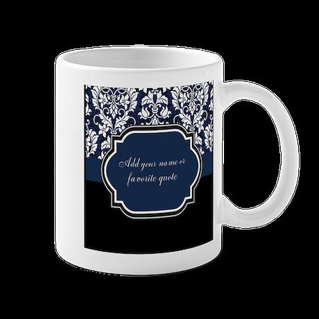 Customizable Damask Mug